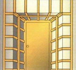 Приклад горизонтальної установки обрешітки